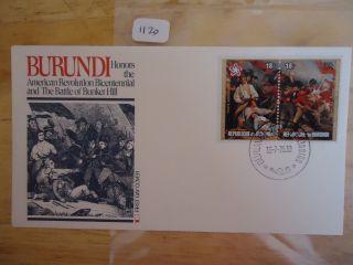 Burundi 1976 Fleetwood Fdc American Bi - Cent photo