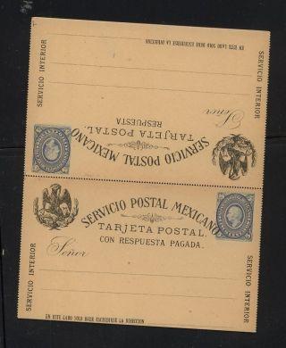Mexico Postal Reply Card 5 Centavos photo
