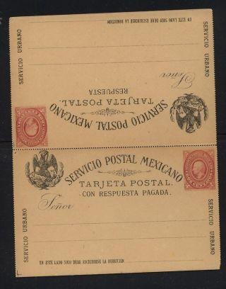 Mexico Postal Reply Card 2 Centavo photo