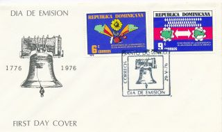 Fdc 1976 Us Bi - Centenial From Dominican Republic photo