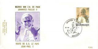 Belgium 1985 Fdc Visit Of Pope John - Paul Ii To Belgium (bruges) - - Scarce photo