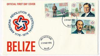 Fdc Belize,  Us Bi - Centenial 1976 photo