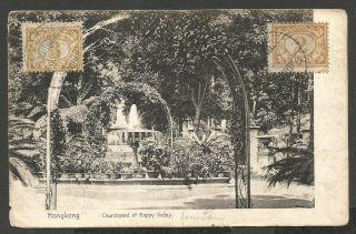 China,  Hongkong,  Churchyard Of Happy Valley, ,  Sent Semarang To Budapest,  1914 photo