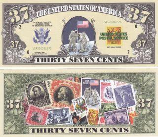Modern Mail Postal History Novelty Money Bill 059 photo