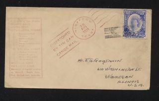 Tonga Tin Can Mail Cover 1934 photo