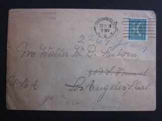 German Cover W/scott 41 - Addressed - 11/9/1921 Cancel photo