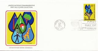 (28121) United Nations Fdc Water - York 22 April 1977 photo