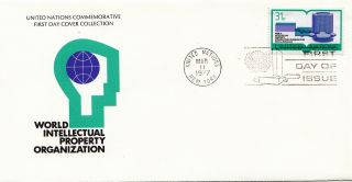 (28122) United Nations Fdc Intellectual Property - York 11 March 1977 photo
