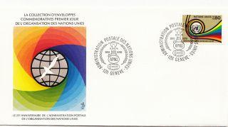 (28128) United Nations Fdc Postal Administration 25yrs - Geneva 8 October 1976 photo