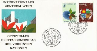 United Nations 1982 Human Environment First Day Cover Vienna Shs photo