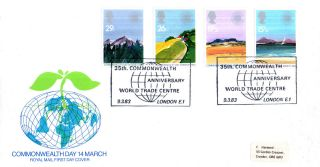9 March 1983 Commonwealth Day Rm First Day Cover World Trade Centre London Shs photo