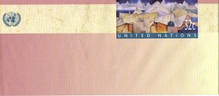 United Nations 1997 32c Pre Paid Envelope / Ny photo