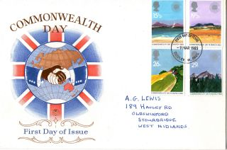 9 March 1983 Commonwealth Day Philart First Day Cover Better Rcs London Wc2 Shs photo
