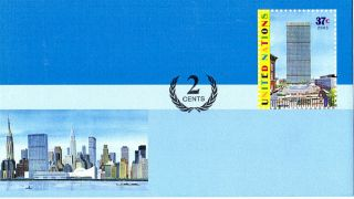 United Nations 2006 37c + 2c Pre Paid Envelope Small / York photo