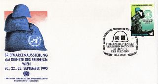 United Nations 1990 Nobel Peace Prize First Day Cover Vienna Shs photo