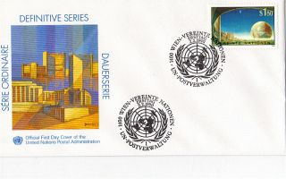 United Nations 1990 S1.  50 Definitive Value First Day Cover Vienna Shs photo