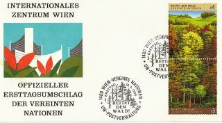 United Nations 1988 Save The Forest First Day Cover Vienna Shs photo
