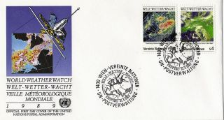 United Nations 1989 World Weather Watch First Day Cover Vienna Shs photo