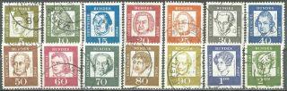 Germany,  1961 - 64,  Sc 824,  827 - 839,  Portraits Of Famous Germans, photo