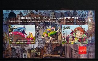 Souvenir Sheet Children ' S Books London 2010 (alice In Wonderland,  Peter Pan. . . ) photo