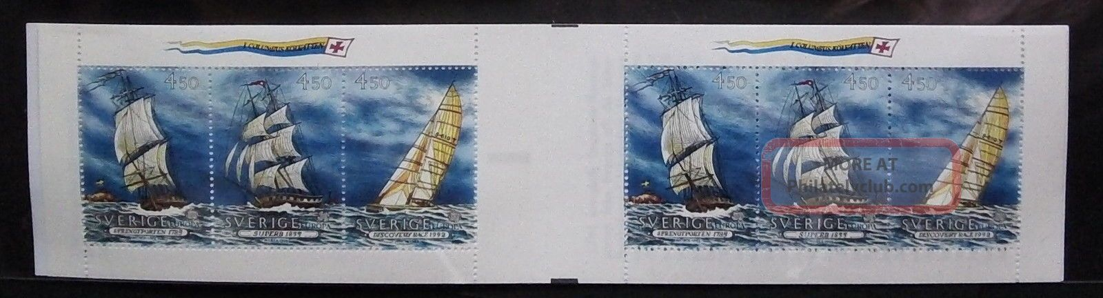Sweden 1992 Europa - Sailing Ships Booklet. . Transportation photo
