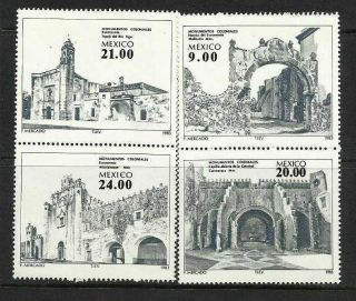 Mexico 1983 Sc 1341a Mi 1885 - 88 Colonial Monuments photo