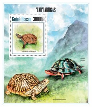 Guinea - Bissau 2013 Sea And Land Turtles Stamp Souvenir Sheet Gb13504b photo
