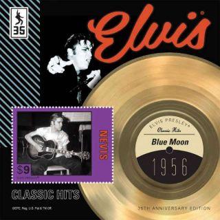 Nevis - Elvis Presley,  Blue Moon - Stamp Souvenir Sheet - Nev1206s photo