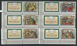 Burundi 1975 Sc B65 - B67 & Cb35 - Cb37 Christmas photo
