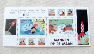Netherlands 1999 Tintin ' Men On The Moon ' Souvenir Sheet - Limited Edition - photo