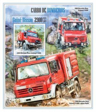 Guinea - Bissau - 2013 Fire Trucks Stamp Souvenir Sheet Gb13507b photo