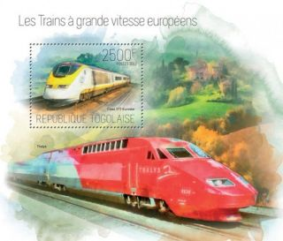 Togo 2013 High Speed Trains Of Europe Stamp Souvenir Sheet 20h - 777 photo