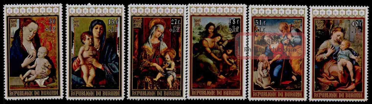 Burundi B71 - 3,  Cb41 - 3 Christmas,  Art Topical Stamps photo