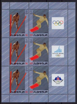 Slovenia Winter Olympic Games Torino 2006 Miniature Sheet Michel 574 - 575 photo