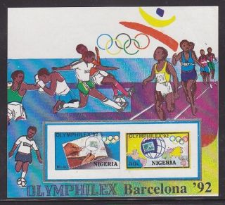 Nigeria - Sport,  Olympic Games Barcelona`92,  Imperforated Sheetlet photo