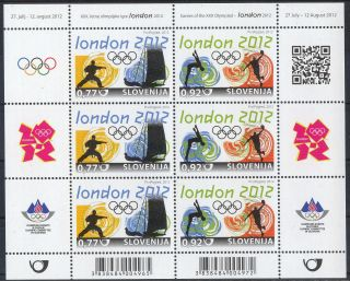 Slovenia Xxx Summer Olympic Games London 2012 Miniature Sheet photo