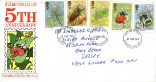 12 March 1985 British Insects Stamp Bug First Day Cover Chichester Fdi photo