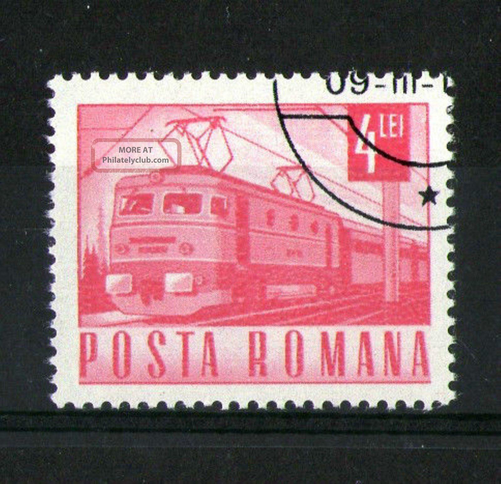 Romania 1967 Electric Locomotive Commemorative Stamp Sg 3528 Vfu Europe photo