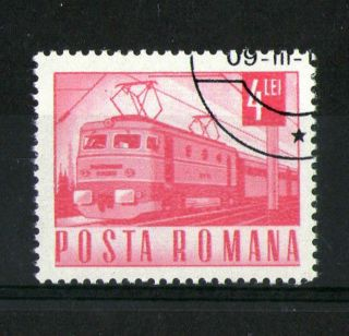 Romania 1967 Electric Locomotive Commemorative Stamp Sg 3528 Vfu photo