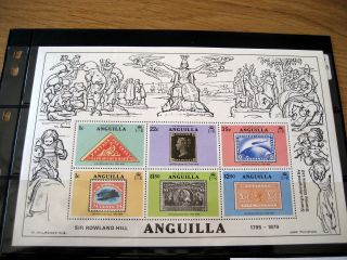 Anguila Stamp Collecion:sir Rowland Hill,  Dog Island,  Children W/dog photo