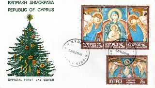 Cyprus 23 November 1970 Christmas Illustrated First Day Cover Cds photo