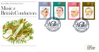 10 September 1980 Famous Conductors Po First Day Cover Conductors Of The Halle S photo
