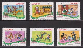 Lesotho - Sc 412 - 17 - Disney Characters - Christmas ' 83 photo