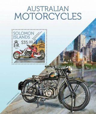 Solomon Islands 2013 Australian Motorcycles Stamp S/s 19m - 298 photo