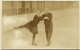 Lake Placid 1932 Winter Olymoic Games Rppc Orgonista & Szalay Of Hungary photo