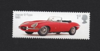Jaguar E - Type 1961,  Gb 2013 Um Stamp photo