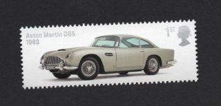 Aston Martin Db5 - 1963,  Gb 2013 Um Stamp photo