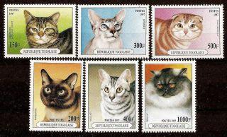 Togo 1997 Cats photo