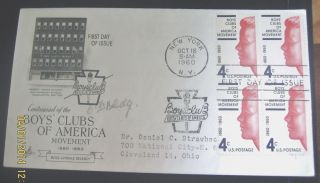 Collectible Boys ' Club Of America 1860 - 1960 Fdc - Pic N.  Y.  Headquarters photo