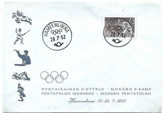 1952 Summer Olympic Games Helsinki Finland,  Modern Pentathlon photo